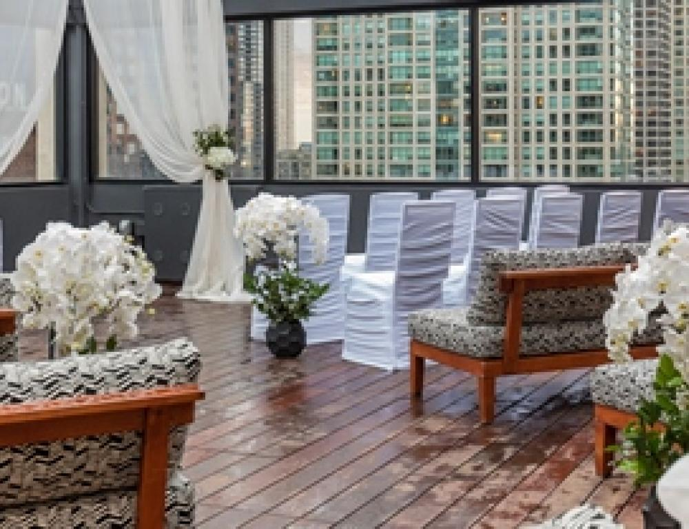 52Eighty Private Rooftop Patio Event Space - Wedding Ceremony