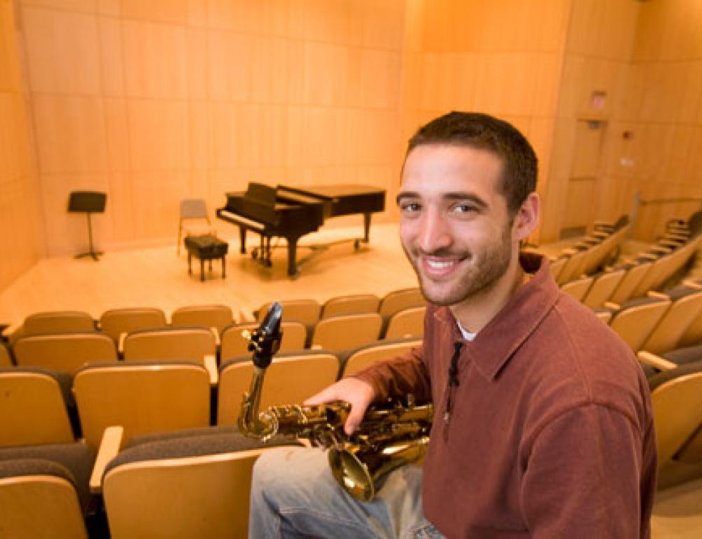 The Brandi Recital Hall features excellent acoustics and seats 130 people.