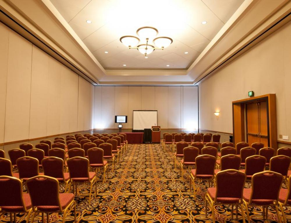 Theatre style breakout meeting space with audio visual package