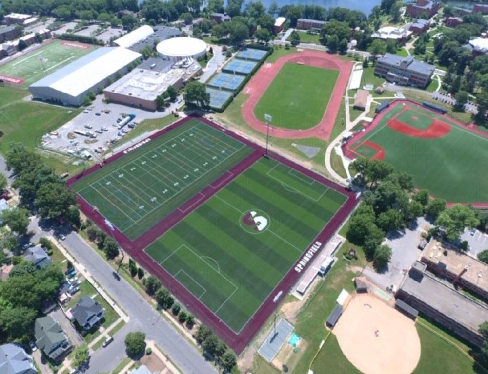 Arial View Springfield College athletic facilities