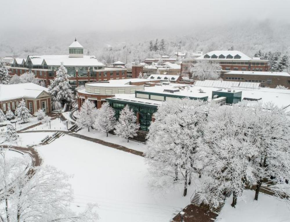 Boone is a four season community, with cool summers and snowy winters.