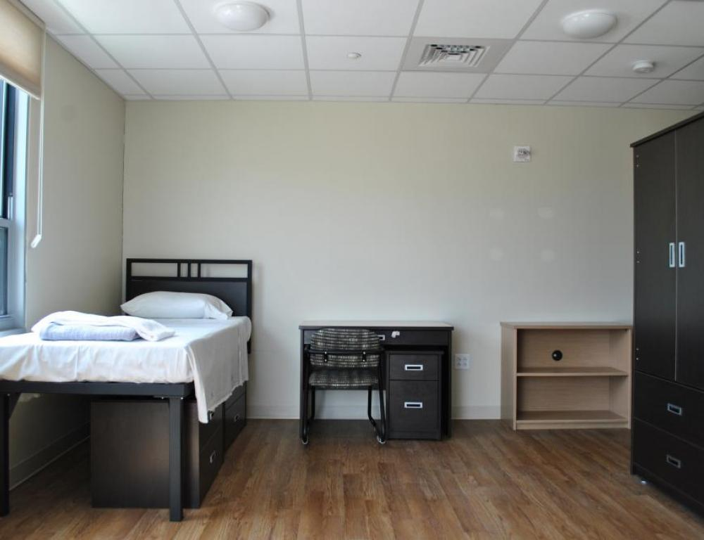 For adult programs, suite-style accommodations are available, with private attached bathrooms in each room.