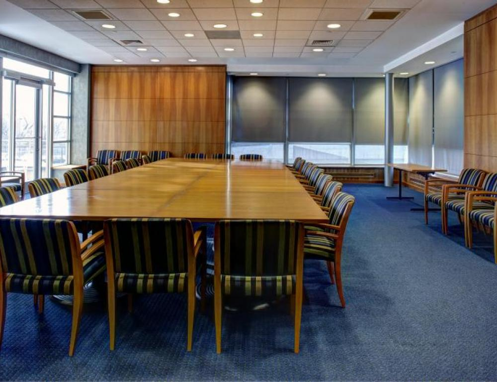 The Talon Center executive conference room is equipped with technology.