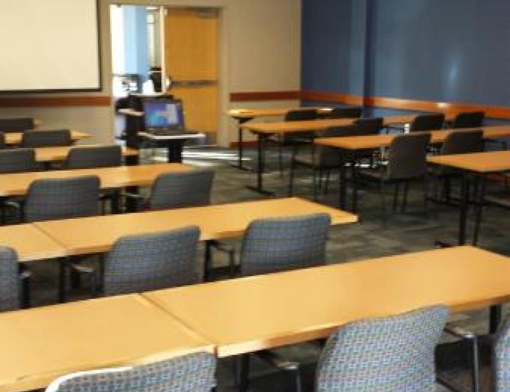 Talon Center 210 can be used as a meeting space set up classroom style.