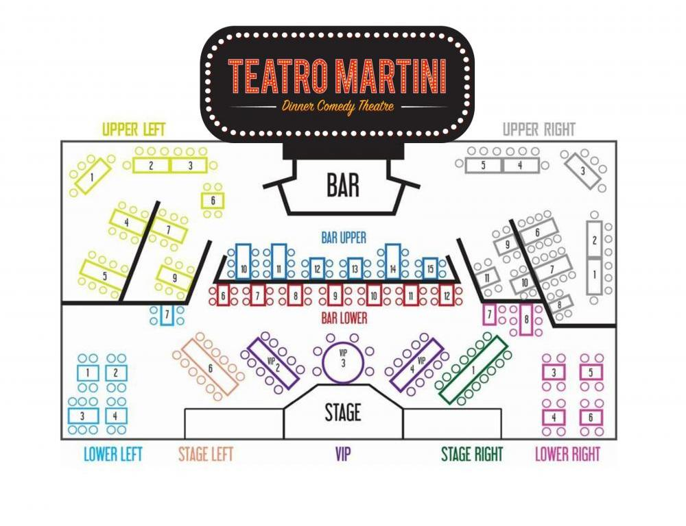 Teatro Martini Seating Chart