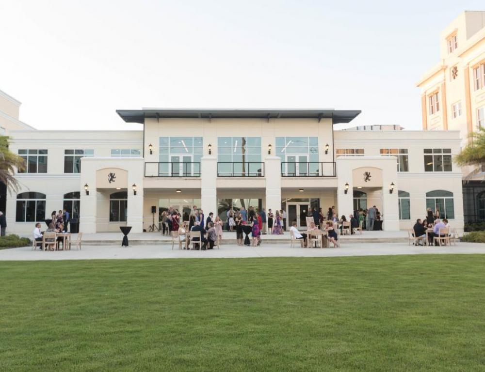 The Commons, Courtyard Area Surrounded by Meeting Space & Residential Halls