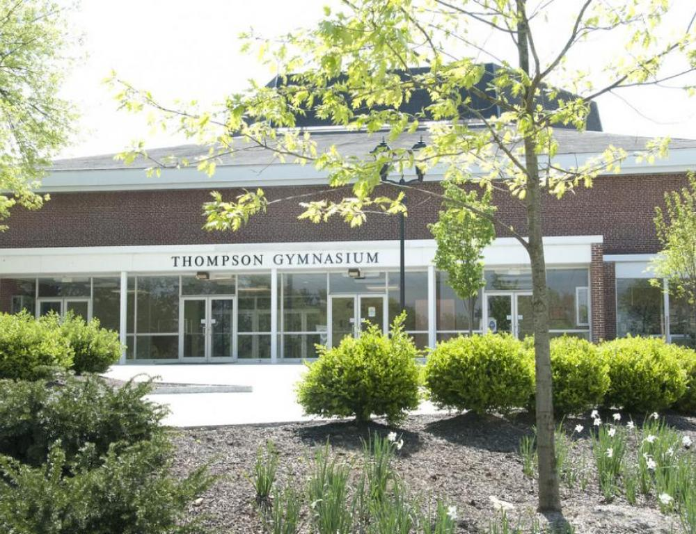 Thompson Gymnasium is the home of the Blue Jays, Elizabethtown's intercollegiate athletic teams. Located in the athletic facility are basketball courts, racquetball/handball courts, a swimming pool, weight training rooms, and the wrestling rooms. Thompson is also home to College and community events requiring a large indoor venue, from high school graduations to concerts to political rallies.