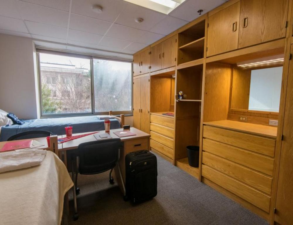 During the summer, traditional style residence halls are reserved for programs with minors.