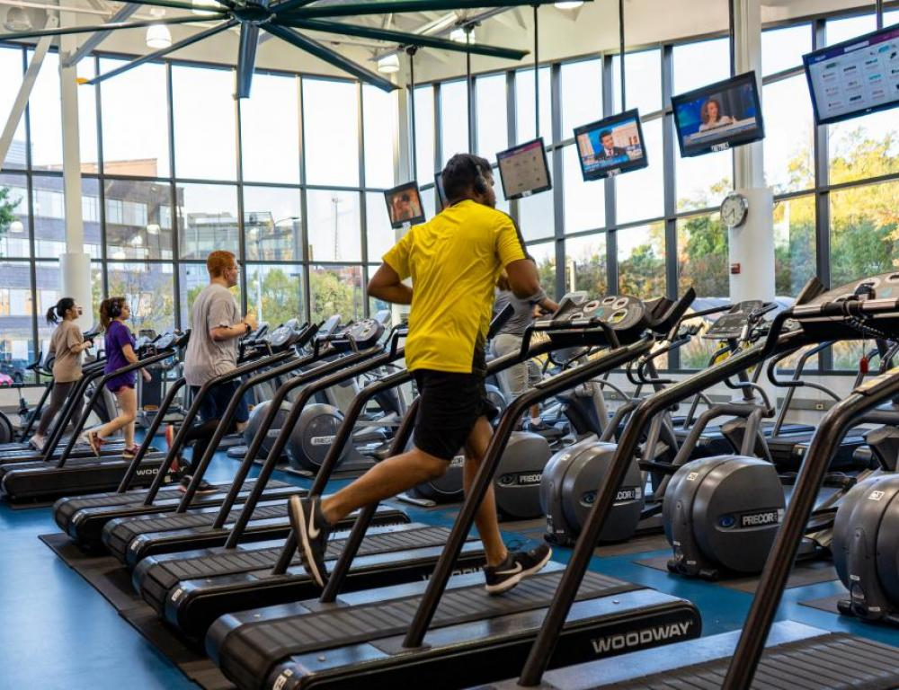 Treadmills at the Aquatic Fitness Center