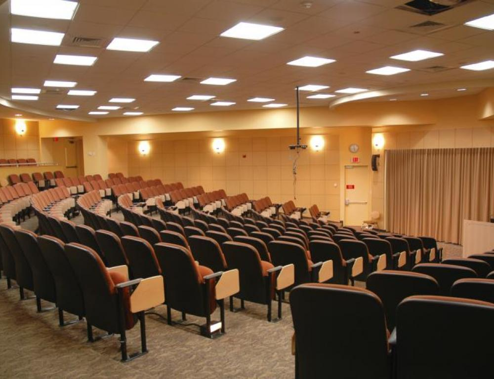 One of the many auditoriums available at Tufts