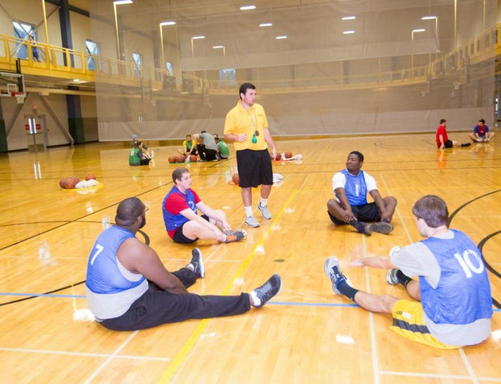 The University Recreation Center offers space for you to work out, swim a lap, or schedule an outdoor adventure.