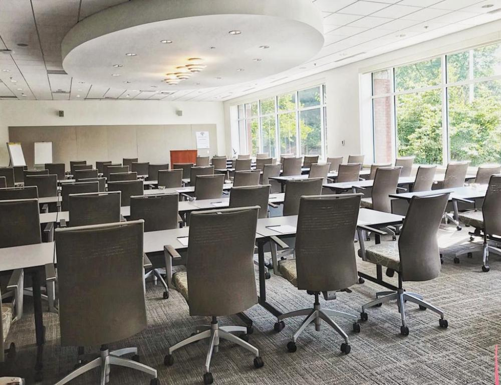 Most of our meeting rooms offer flexible seating options