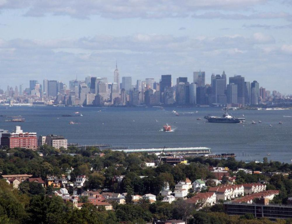 View of Manhattan from campus