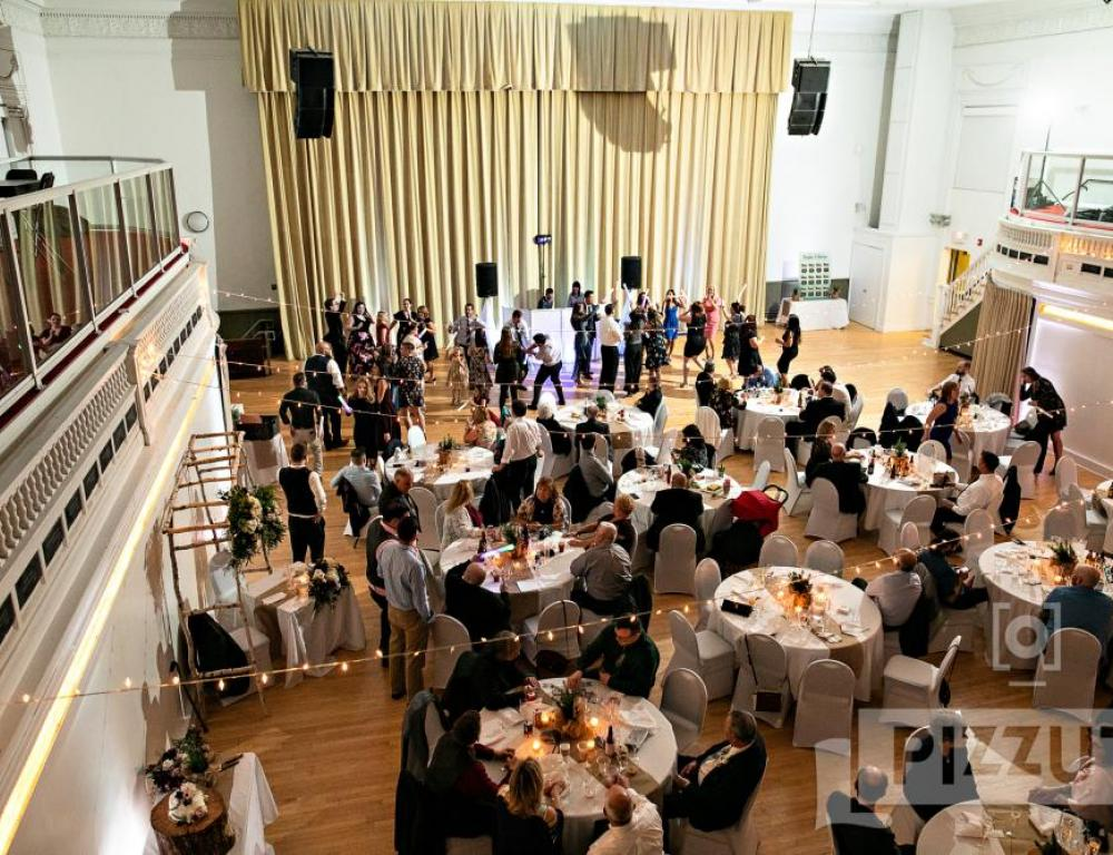 Wedding reception in Main Hall, photo by Pizzuti Studios