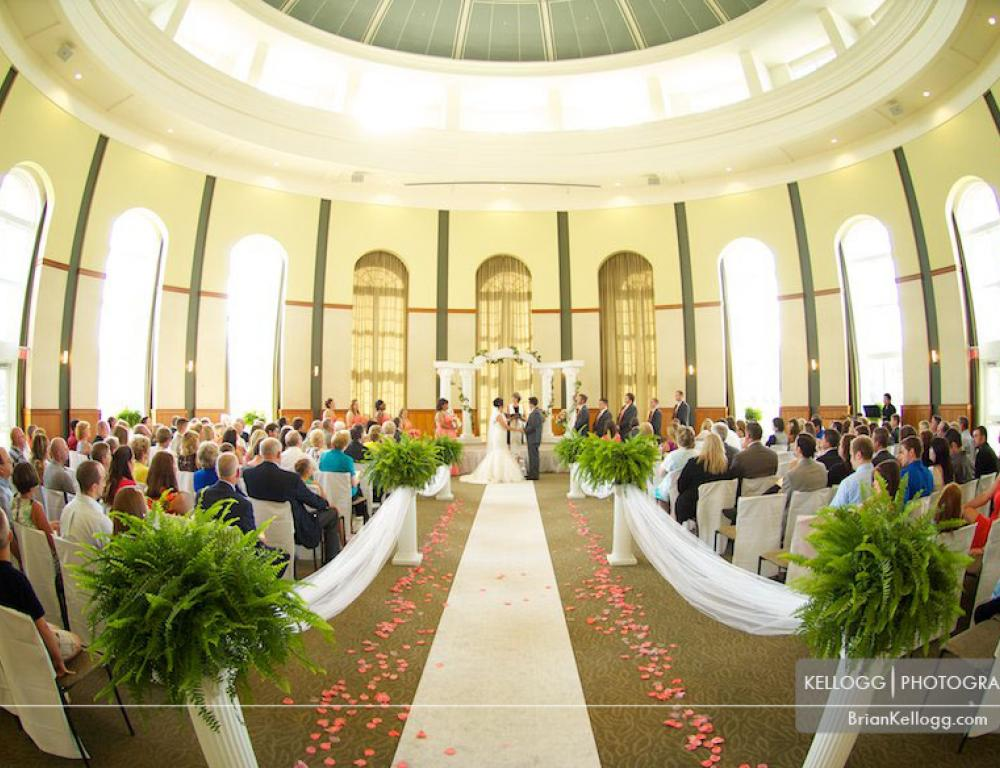 Wedding at the Margaret M. Walter Hall Rotunda
