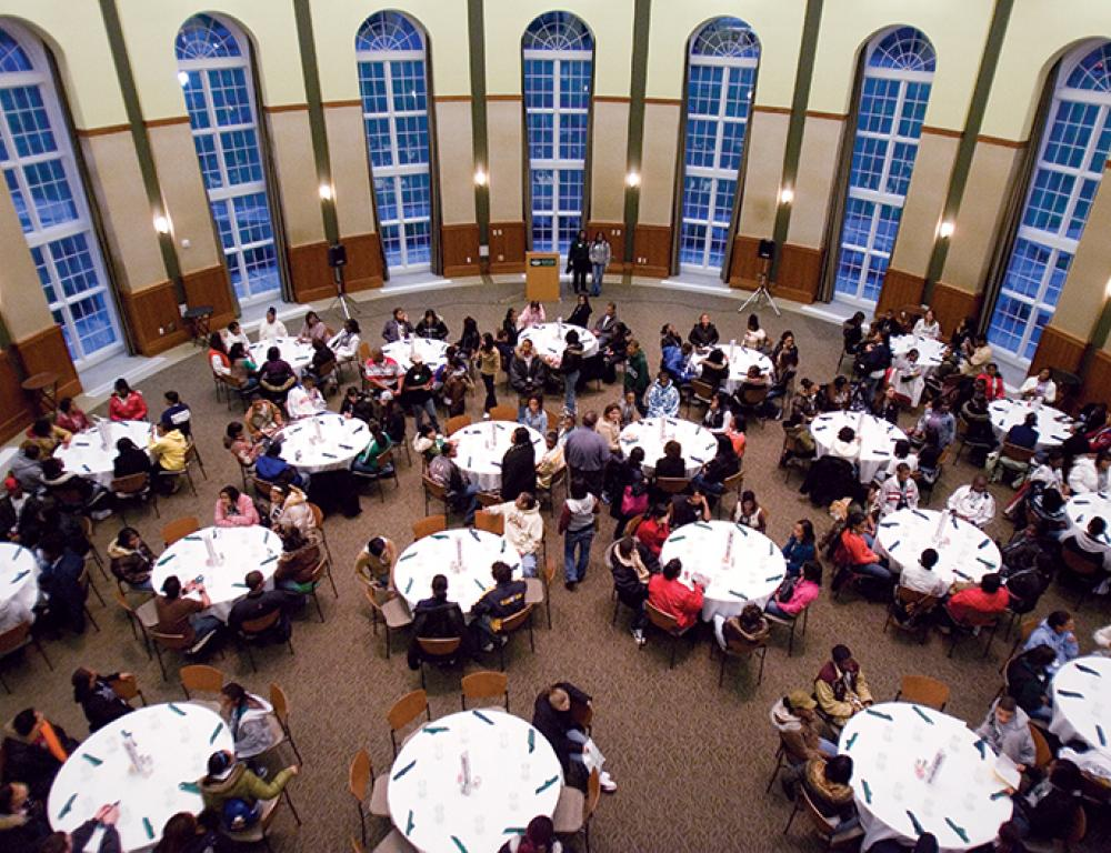 Conference in the Margaret M. Walter Hall Rotunda