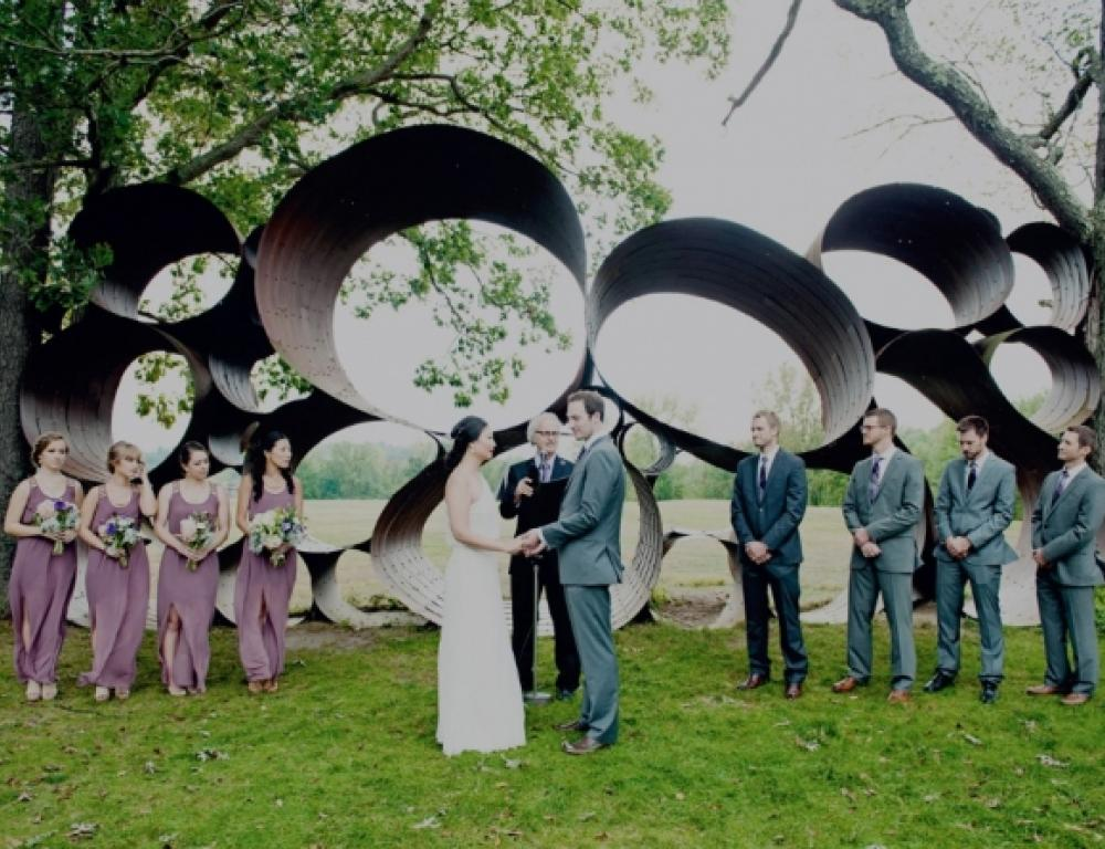 Wedding in the Fields Sculpture Park