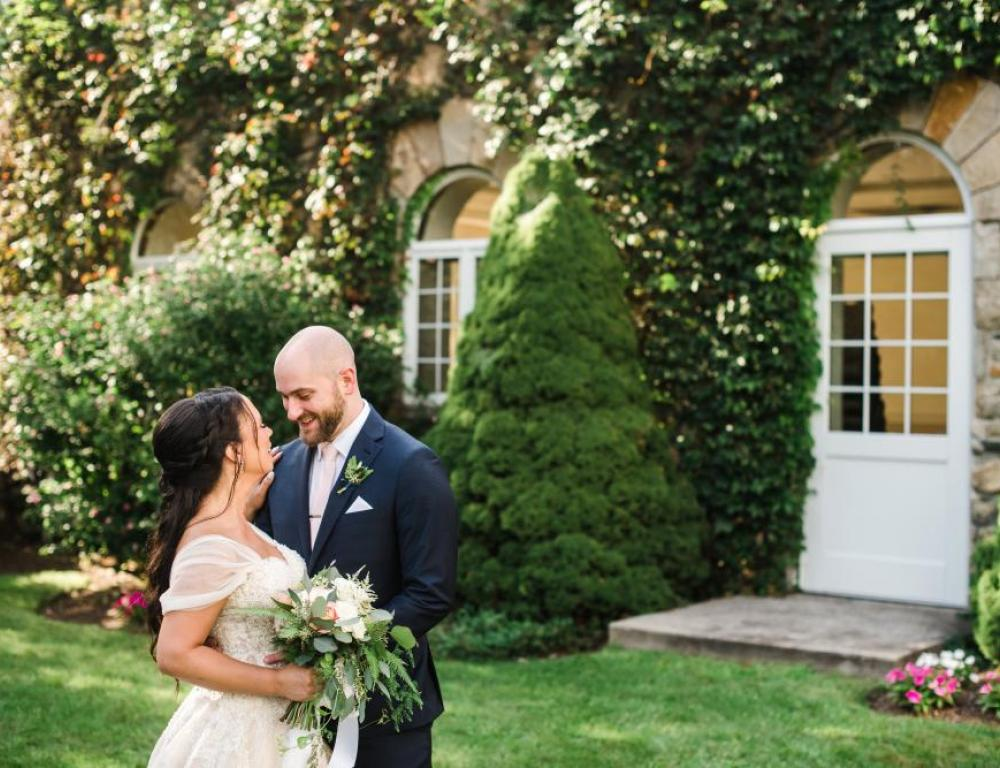 First Look Outside of Main Parlor (Angelina Rose Photography)
