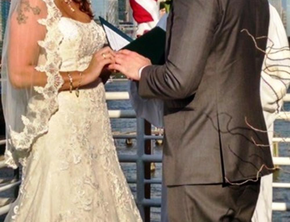 Rooftop Wedding Ceremony on the Hudson