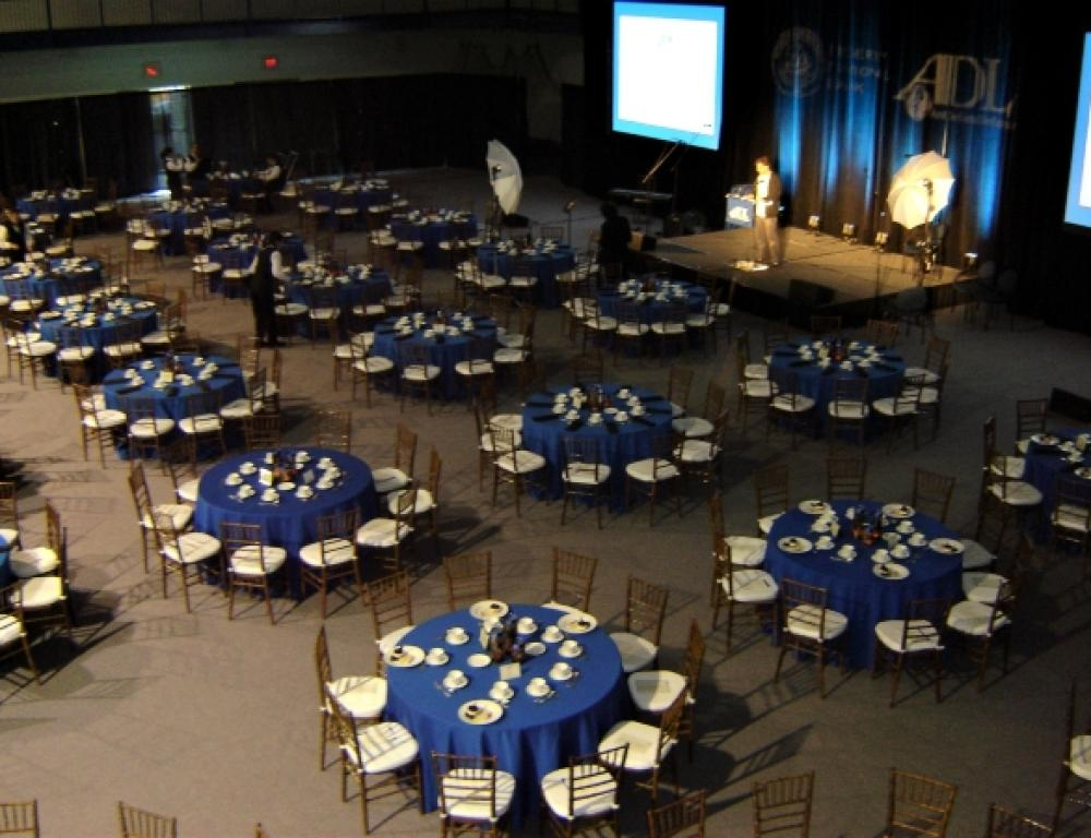 Field House set for a large banquet