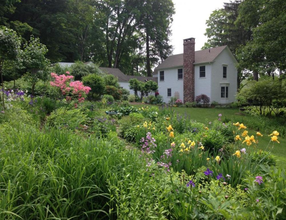 formal gardens with a croquet lawn