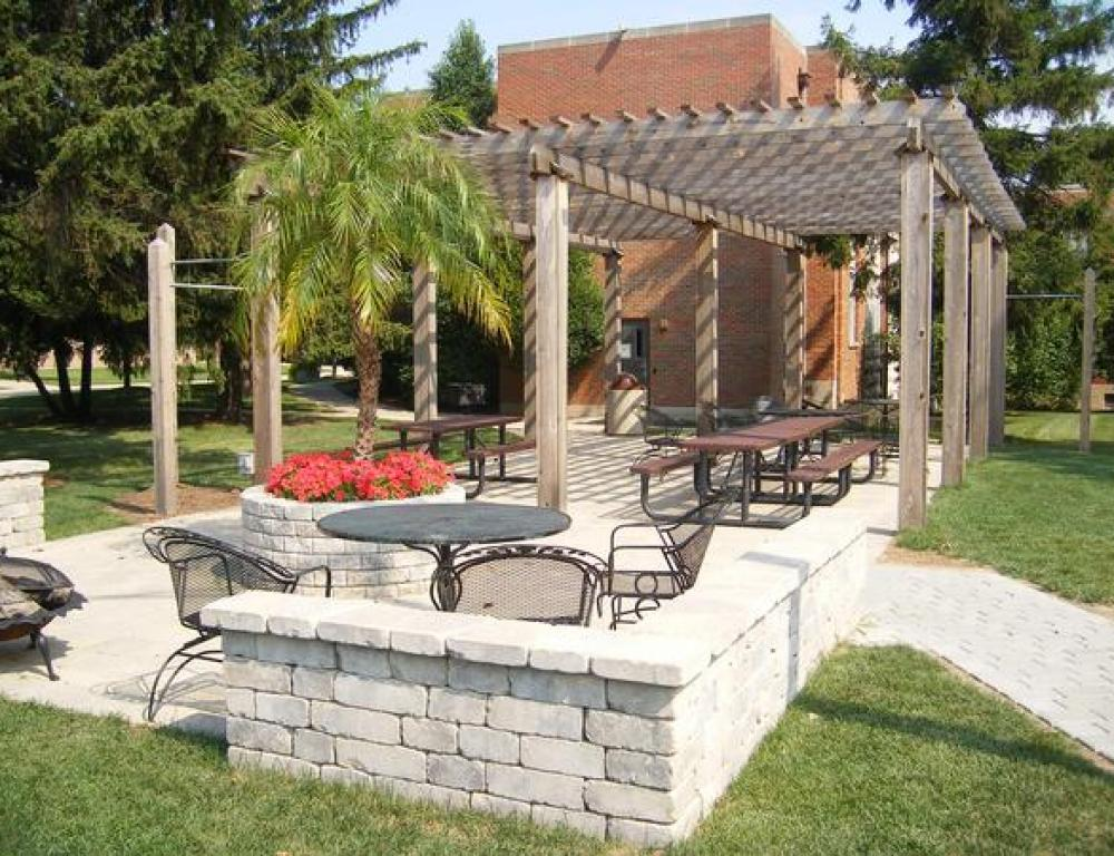 Utilize our beautiful Backyard for summer picnics and birthday parties!