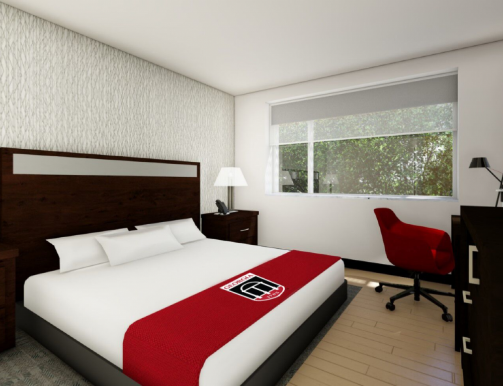 Classic Room rendering - furnished with king size bed