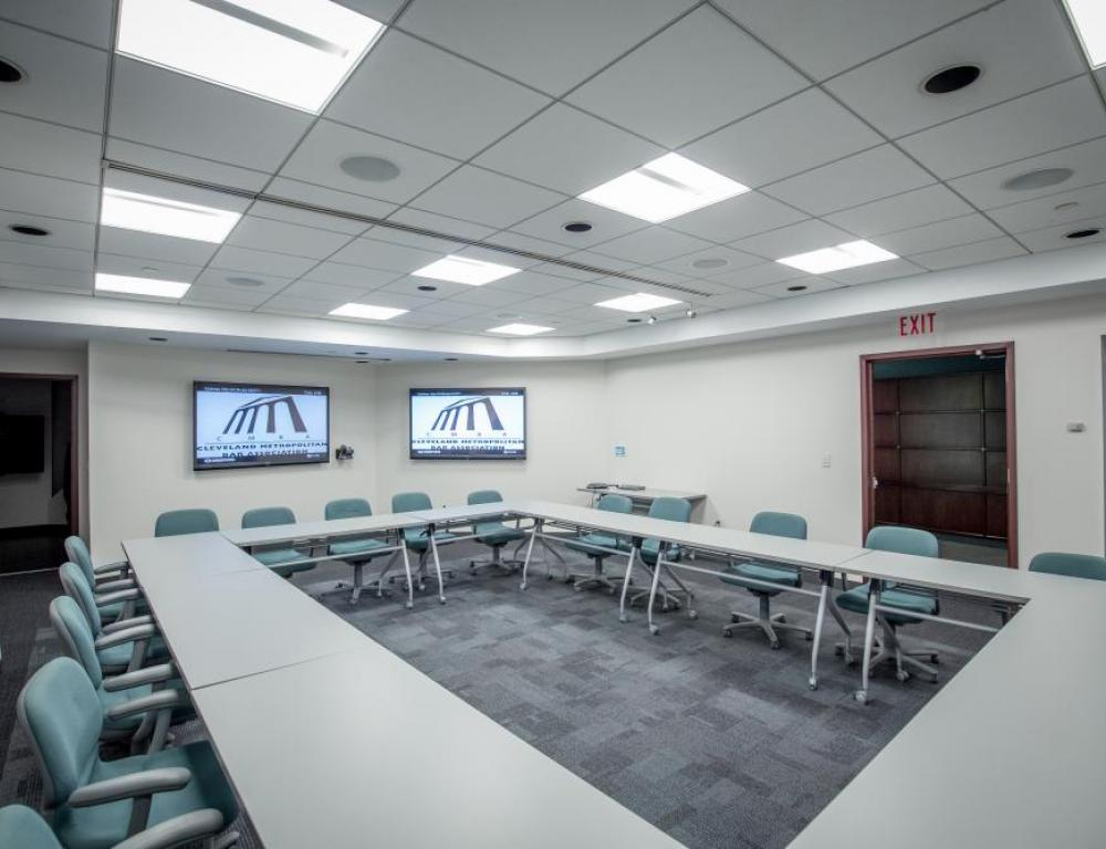 Dual LED screens in Superior allow for easy video conference.