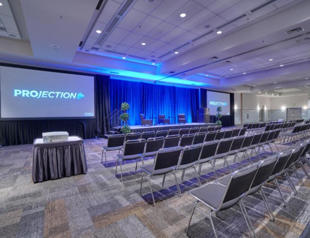 Grand Ballroom with Theatre & Dual Screens & stage