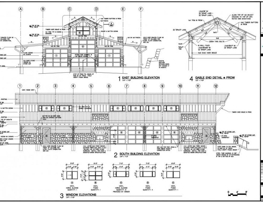 Event Center Exterior Architectural Drawing