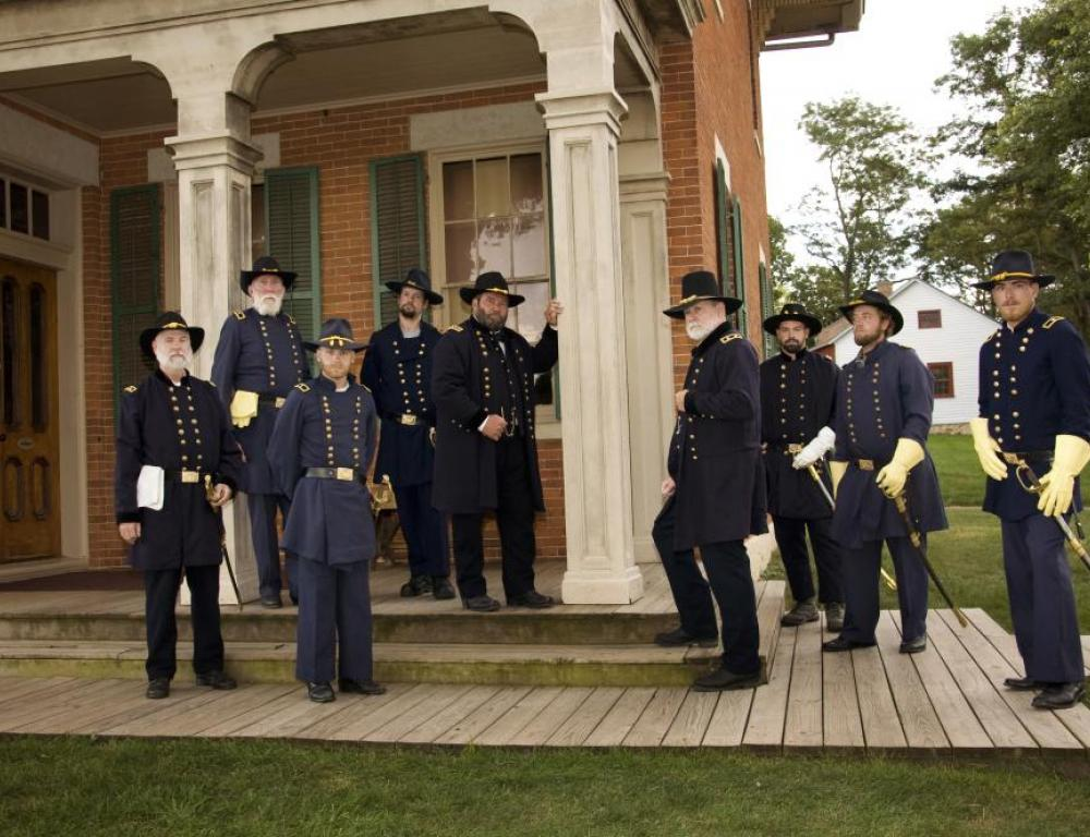 The Galena Generals at Grant's Home