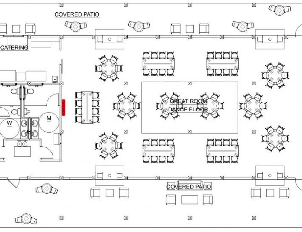 Event Center Interior Architectural Drawing