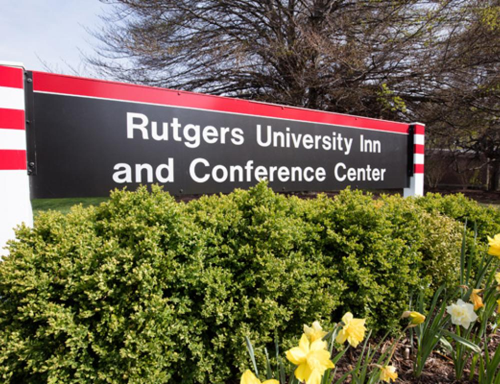 Rutgers University Inn Facility Entrance Sign
