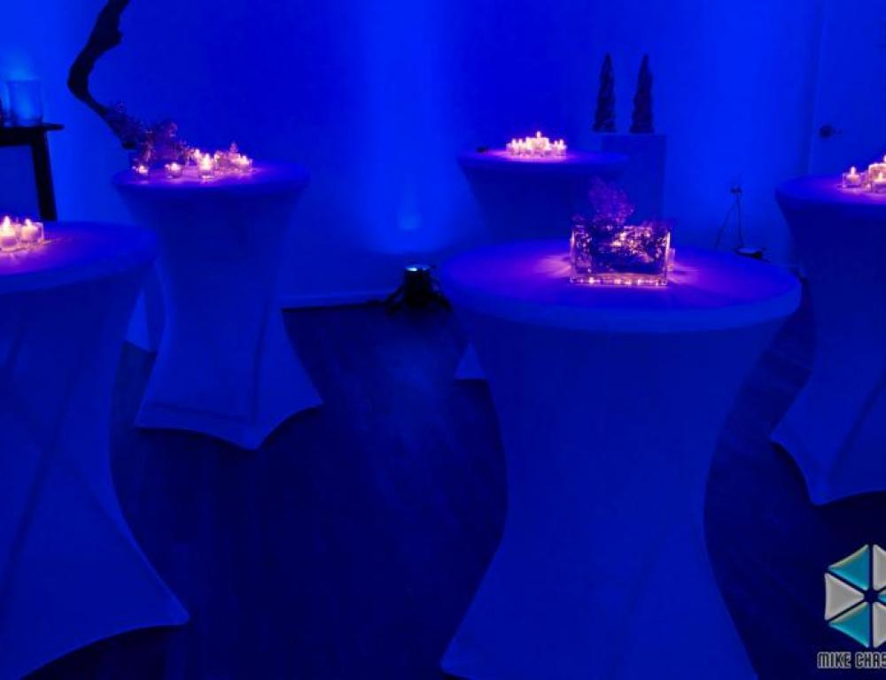Tall tables used during a reception