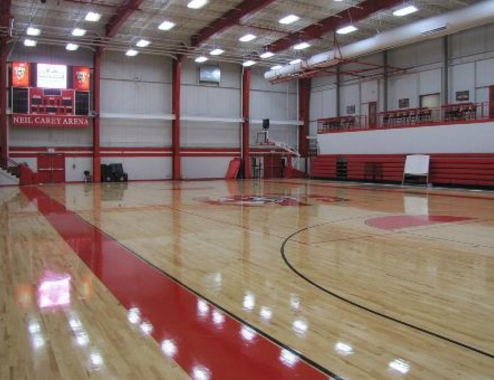 The Neil Carey Arena can be utilized for your next volleyball or basketball camp