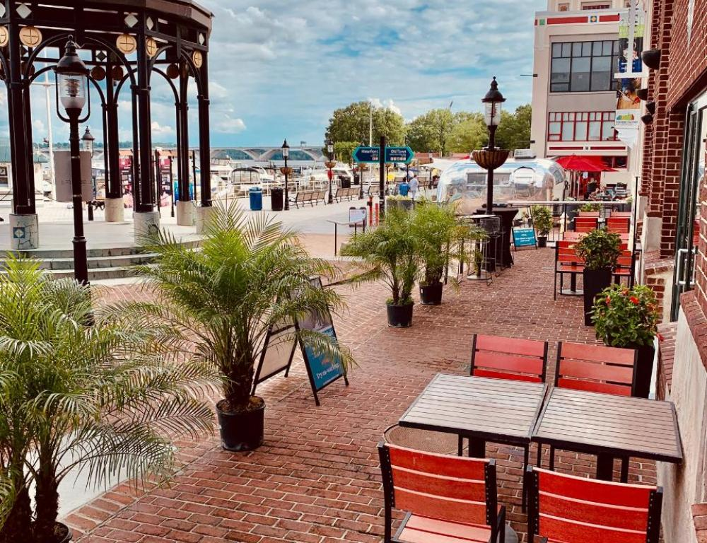 Enjoy working from our waterfront patio.