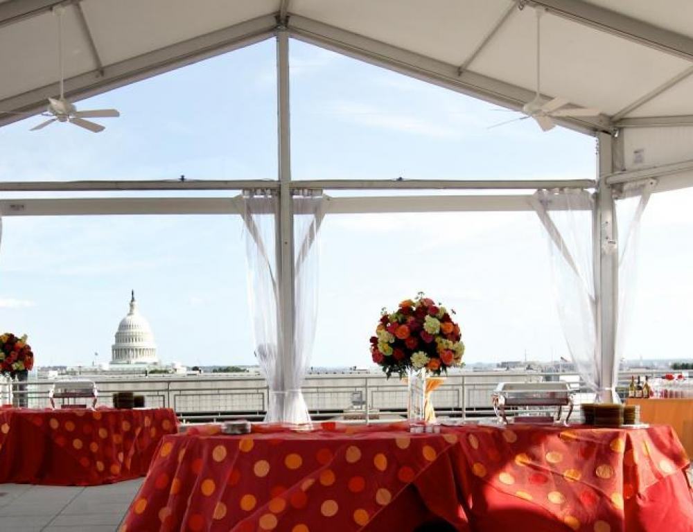 Reception on the South Terrace