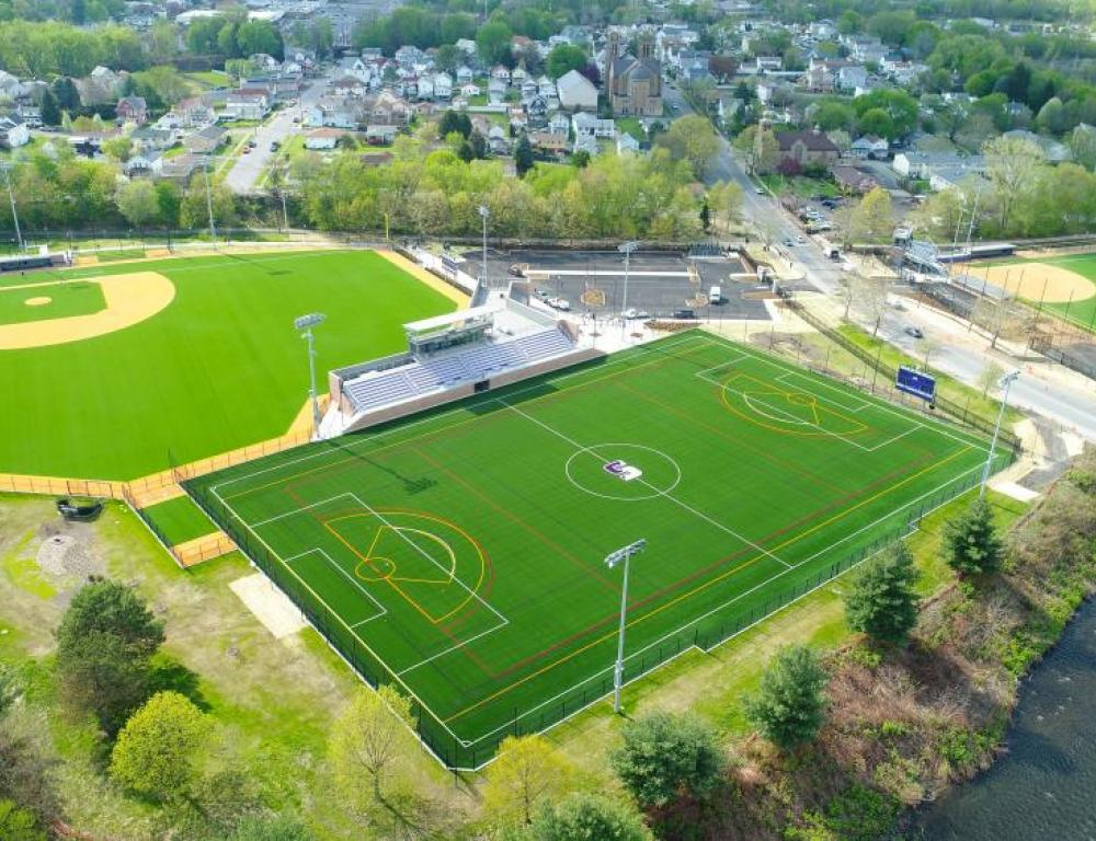 A view of the Quinn Athletic Campus
