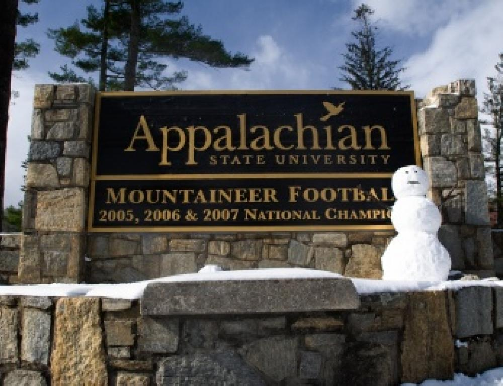 You will appreciate your visit to Appalachian State University in Boone - in any season!