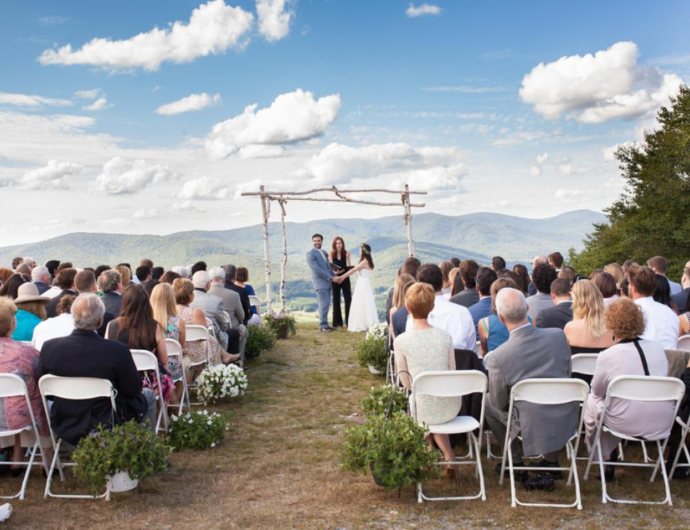 Wedding Ceremony at the Summit with gorgeous views! (available July - October)