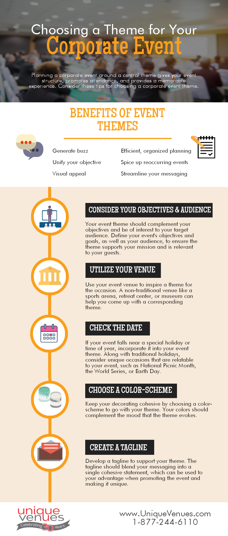 Universities In Oklahoma >> Choosing a Theme for Your Corporate Event - Infographic
